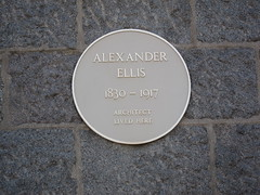 Photo of Alexander Ellis yellow plaque