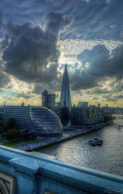 The Shard seen from the Tower Bridge 2013-09-06 173550