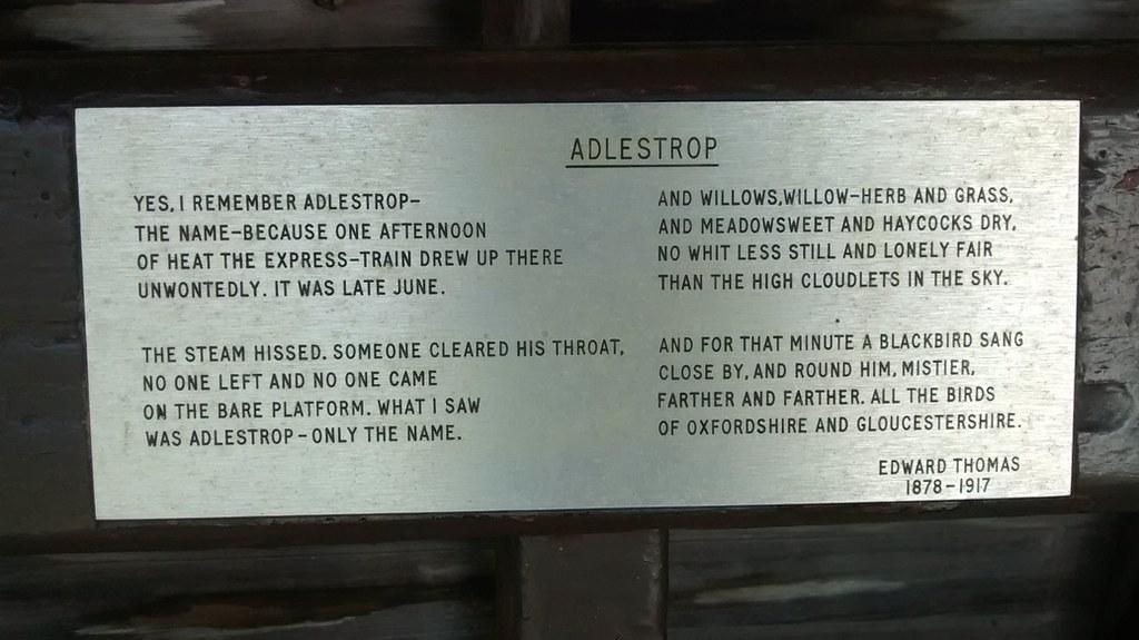 Edward Thomas on Adlestrop Edward Thomas's ode to Adlestrop