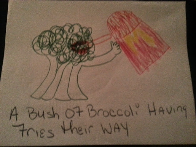 Broccoli Having fries