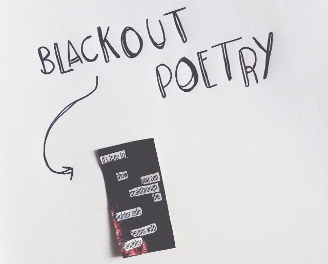 vivatramp uk lifestyle blog creativity with bee creative blackout poetry