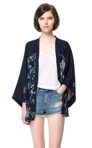O3 Navy Oriental Kimono