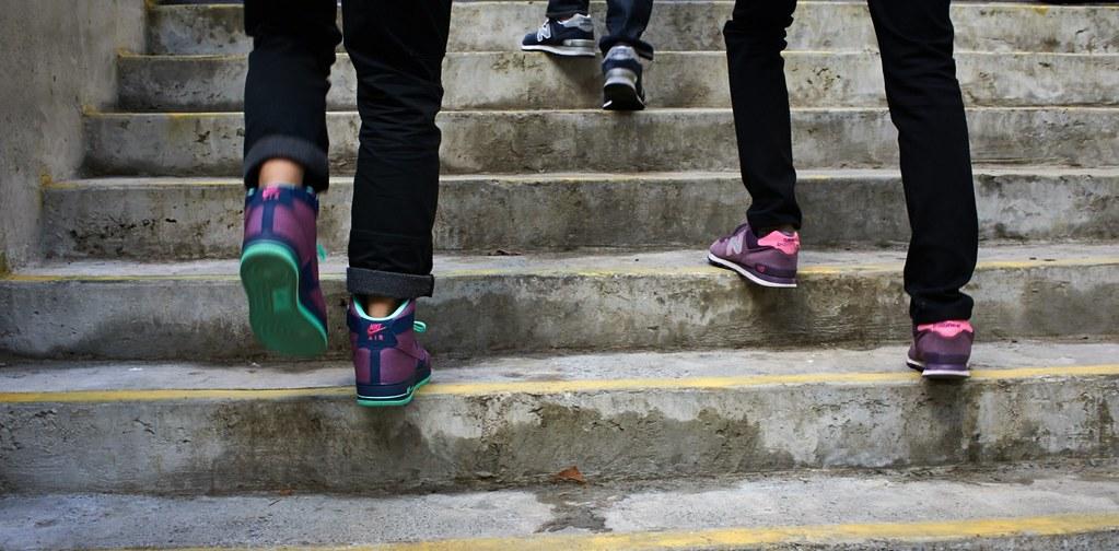 coloured feet