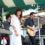 Rocking the Hudson Stage with her band on the river. (Not broadcast) 6/21/14 Photo by Gus Philippas