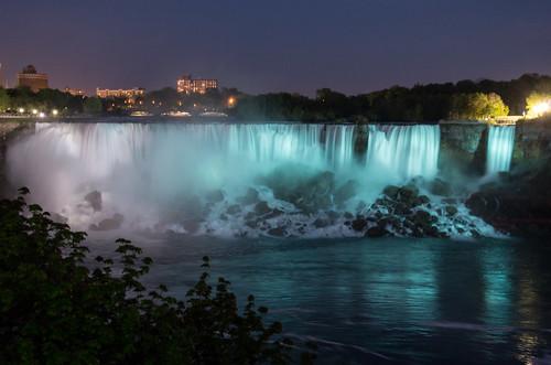 American Falls in Blue