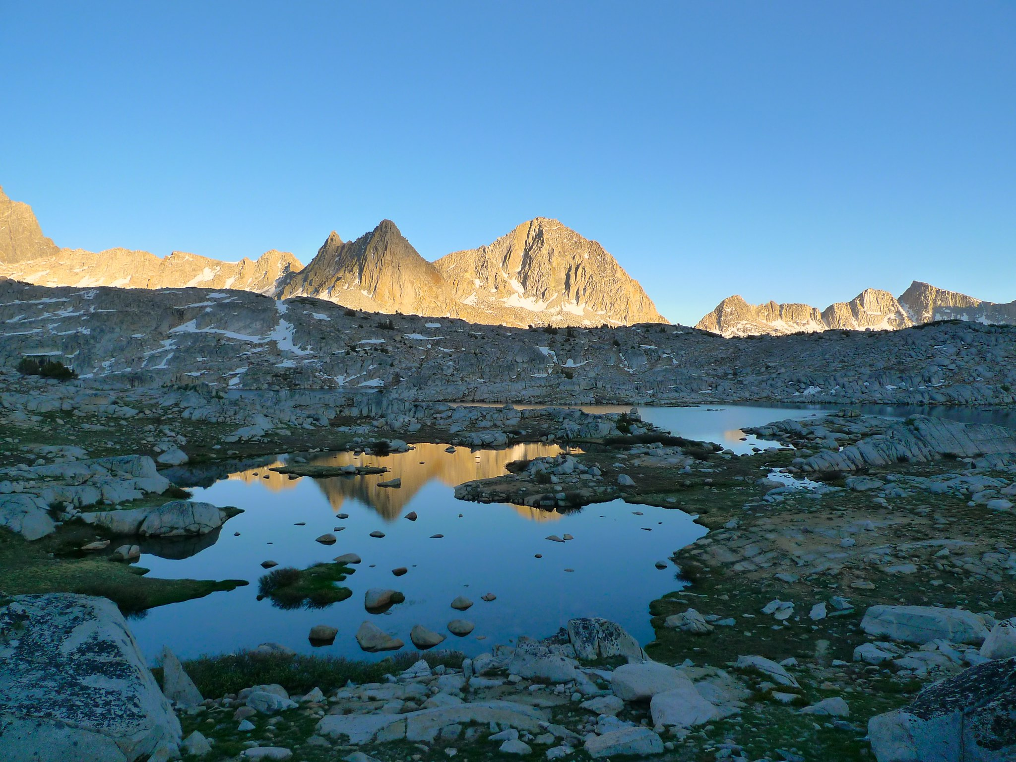Sunset in upper Dusy Basin