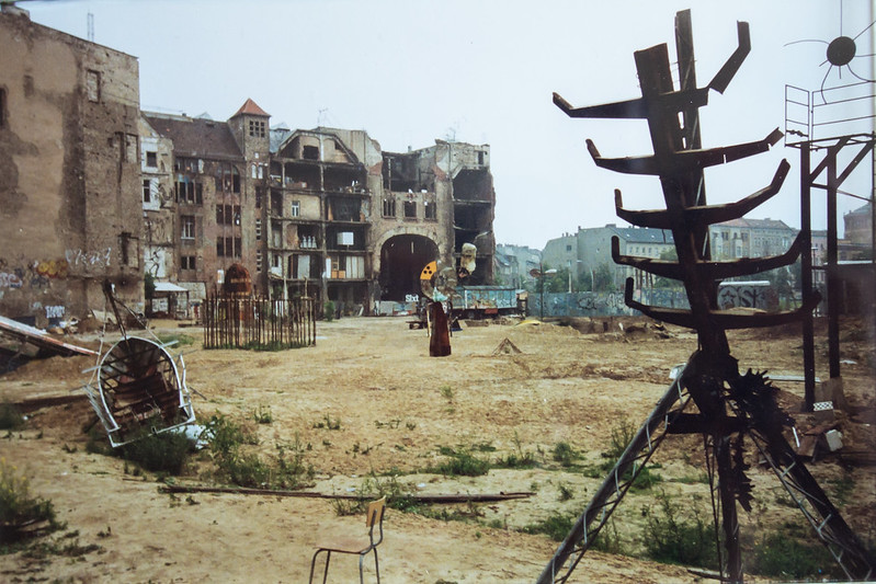 Berlin. Rear view of Tacheles, 1993