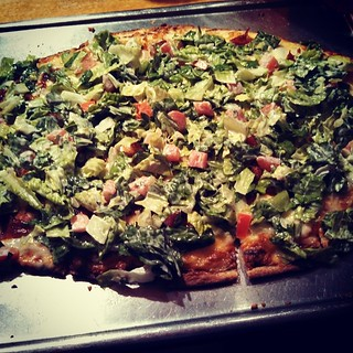 BLT Pizza... #yumo #MoatMountain #smokehouse #brewery #NorthConway #pizza #foodstagram