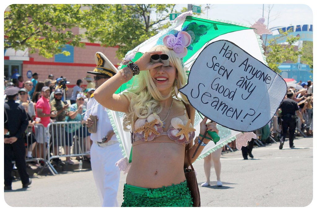 coney island mermaid parade 2014 seamen