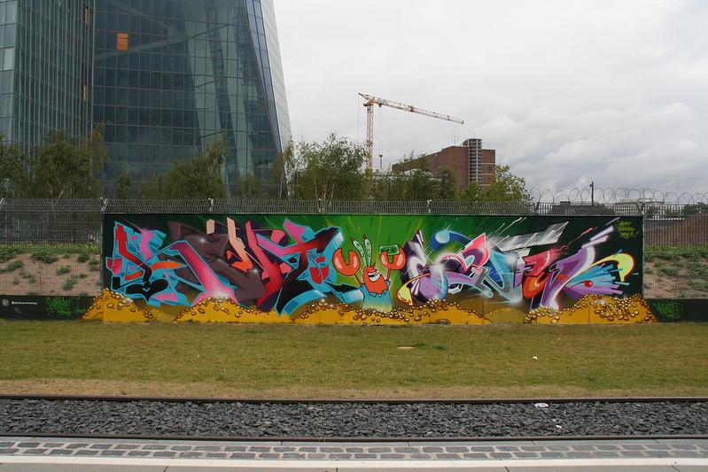 Streetart an der neuen EZB