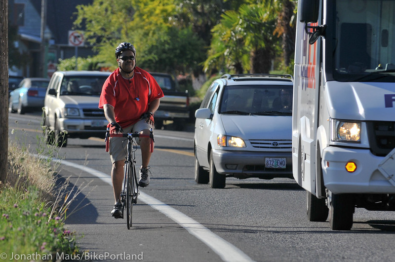 N Willamette Blvd bike lanes-9