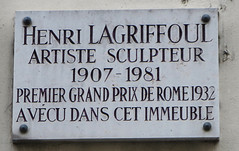 Photo of Henri Lagriffoul marble plaque