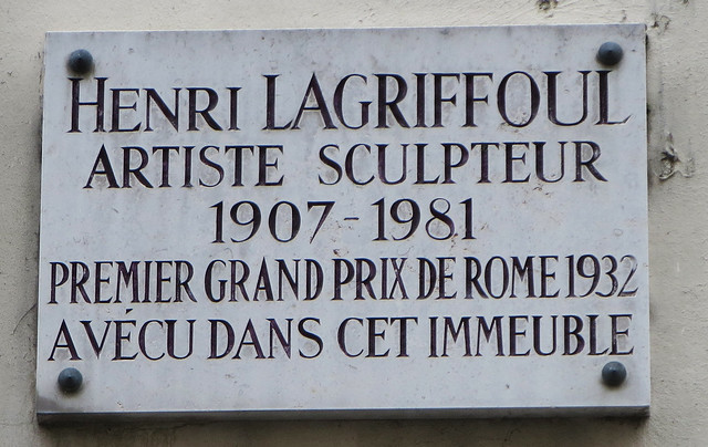 Photo of Henri Lagriffoul marble plaque