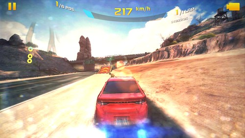 เกม Asphalt 8: Airborne บน Alcatel OneTouch Idol Alpha
