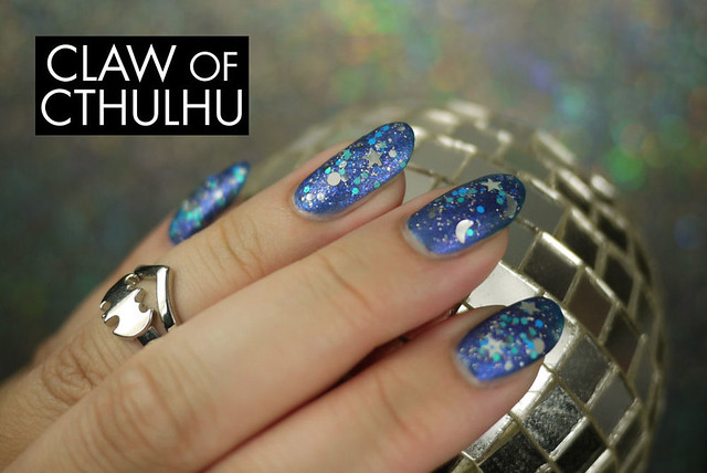 Rainbow Honey Night Sky Swatch (with OPI Matte Top Coat)