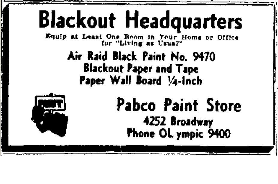 blackout paint 1941 a