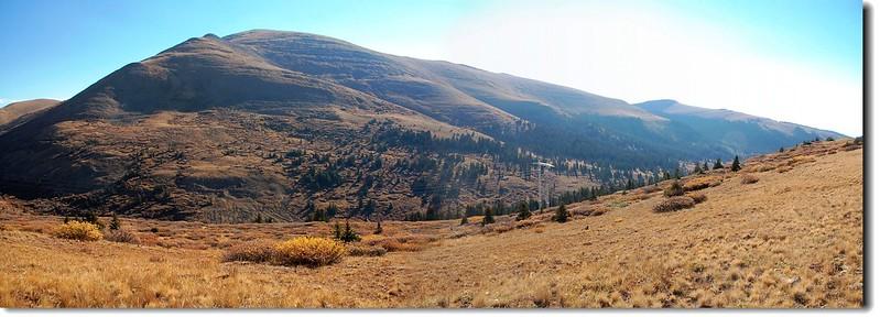 Mount Silverheels from Beaver ridge