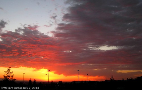 Fiery Sunset Ending Another Summer Day In The City (7-7-14) Photo #1