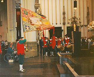 Flag greeting St Jan Den Bosch