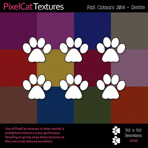 PixelCat Textures - Fall Colours 2014 - Denim
