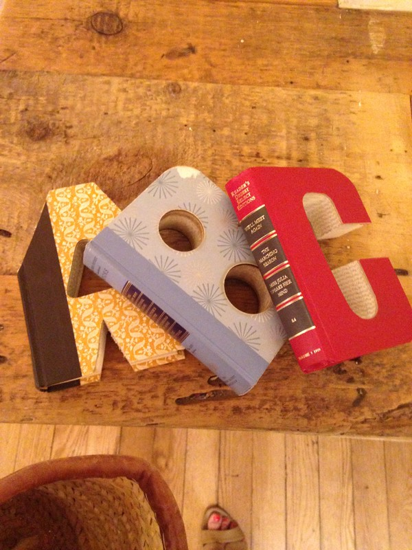 letters made from old books