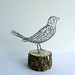 Wire Bird Galvanized Steel by Ruth Jensen
