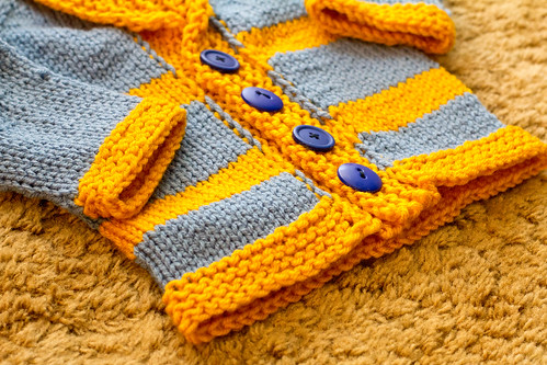 Garter stitch border