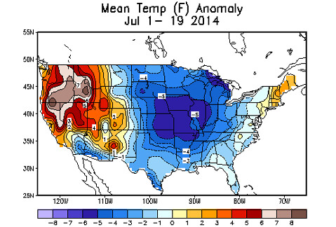 July 2014 Temperature Anomalies
