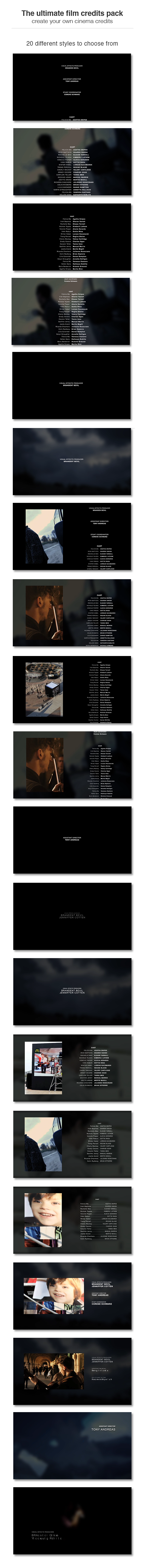 Nice Movie Poster Credits Template Motif