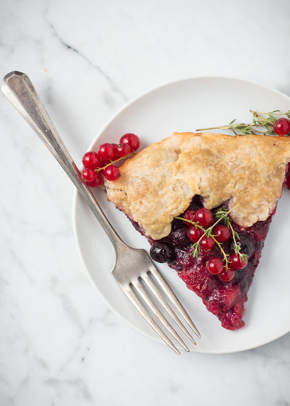 Summer Berry Galette with Lemon and Thyme | Will Cook For Friends
