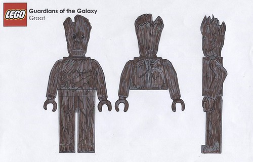 LEGO Guardians of the Galaxy - Minifigure Concept Design - Groot