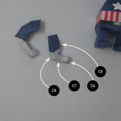 วิธีทำของเล่นโมเดลกระดาษกับตันอเมริกา (Chibi Captain America Papercraft Model) 017
