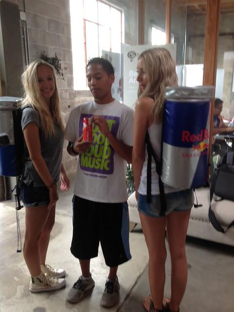 Redbull girls with CJ