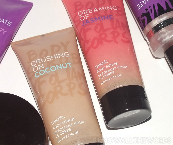 mark body scrub- crushing on coconut and dreaming of jasmine
