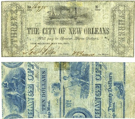 City of New Orleans 1862 scrip
