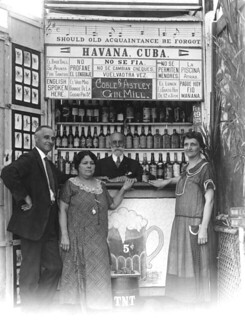 Tourists in photo booth during prohibition - Miami Beach