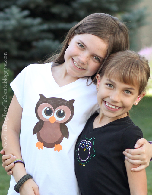 Owl Shirts DIY 1