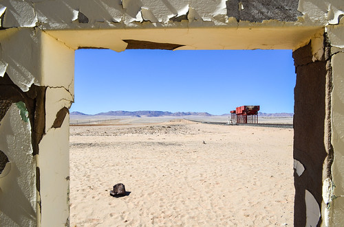 Garub train station in ruins, Namibia