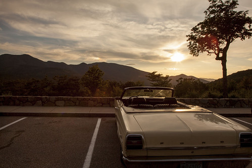 sunset summer sky classic ford 1969 car clouds canon antique newengland newhampshire convertible fairlane 1740l kancamangus kancamangushighway 5dmarkii