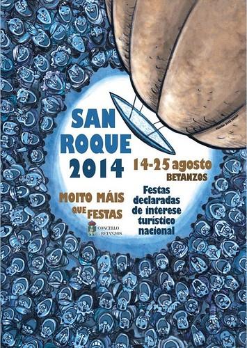Betanzos 2014 - Festas patronais de San Roque - cartel