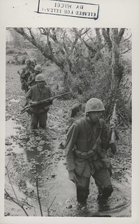 Marines Move Through Swamps, Operation Chinook II, 1967