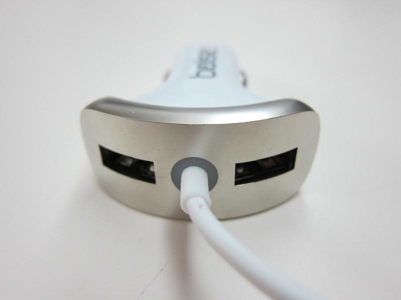 Bolse 25W (5A) 3-Port USB Car Charger - 2x USB ports