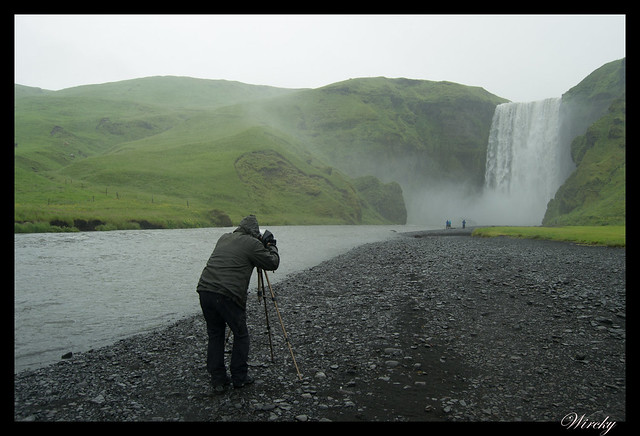 La elegante cascada Skógafoss