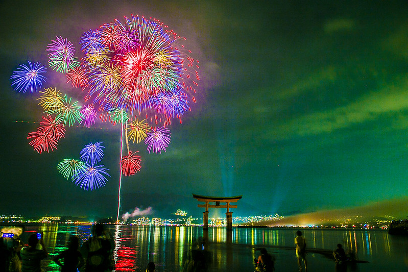 宮島水中花火大会2014(大鳥居前)234