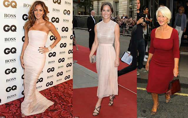 fashion-style-at-GQ-awards-2014,Ermanno Scetvino strapless gown, Ermanno Scetvino, a wrap strapless dress, Who wore what at GQ Men of the year Awards 2014