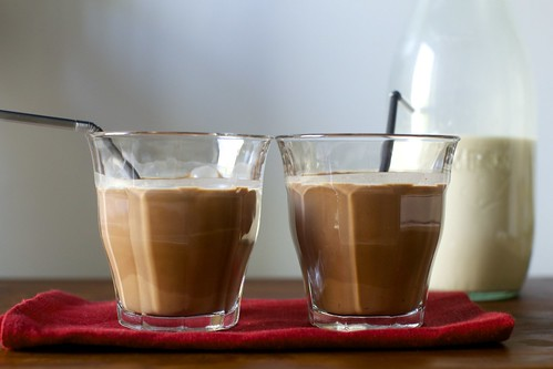 chocolate and toasted hazelnut milk