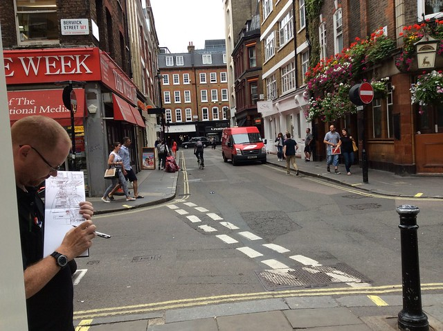 Pete sketching Soho