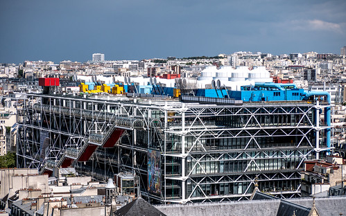 Le Centre Georges Pompidou (Beaubourg) vu de la Tour Saint-Jacques