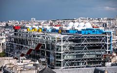 Le Centre Georges Pompidou (Beaubourg) vu de la Tour Saint-Jacques