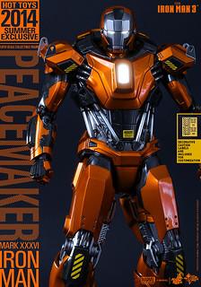 Hot Toys – MMS258 – 鋼鐵人【馬克36 和平製造者】1/6 比例 Mark XXXVI Peacemaker